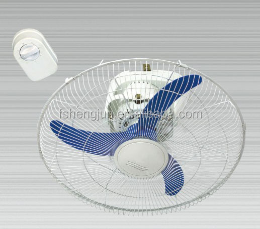 "16/18"" inch Shami ceiling oscillating orbit fan with wall mounted 3 speed control to India Bangladesh Sri Lanka Africa Nigeria"