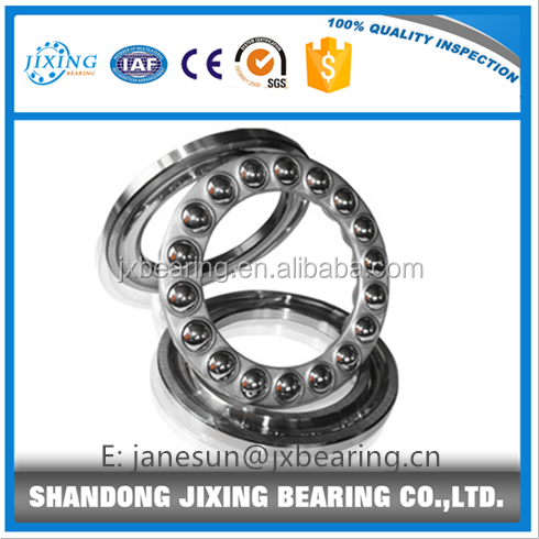 Single direction thrust ball bearing, 3 piece,grooved race,ABEC-1 precision,open
