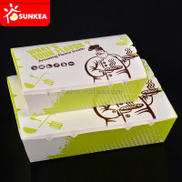 Disposable wax coated paper food box
