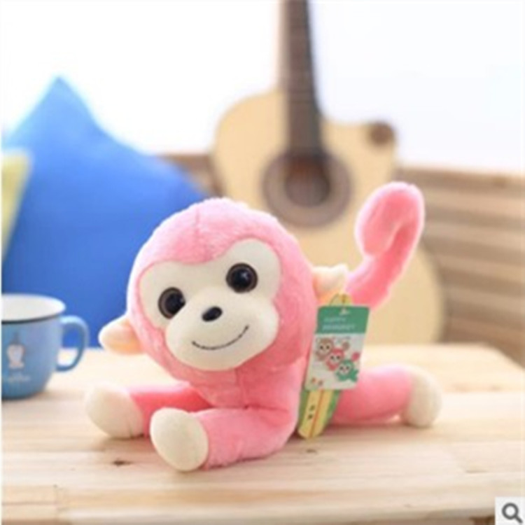 mini colorful very lovely happy long-tail monkey plush toy for sale stuffed animals