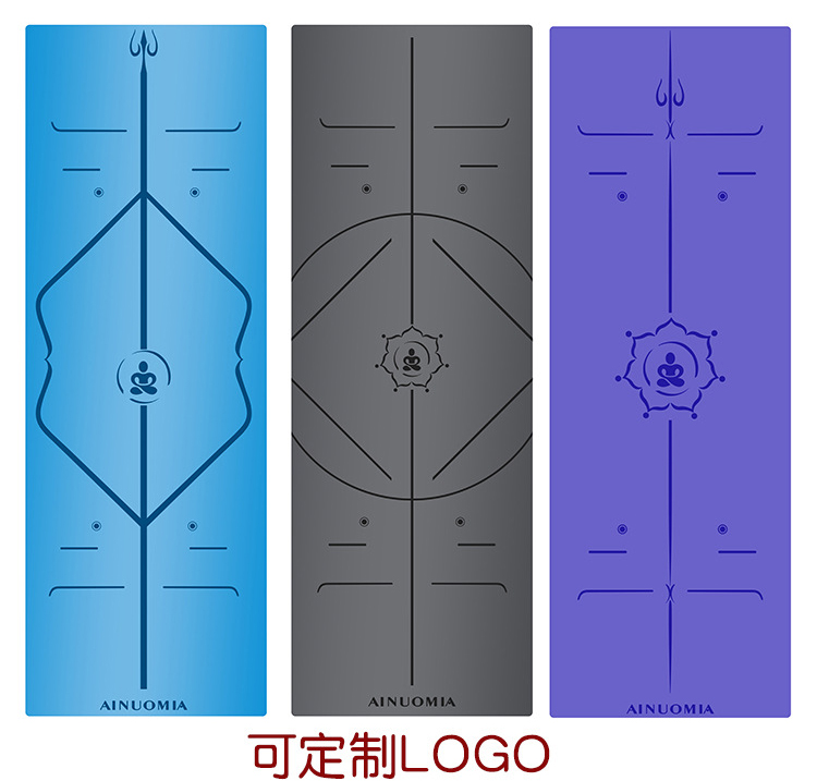 5mm Custom Printed Eco-friendly Yoga Mat Natural Rubber Images