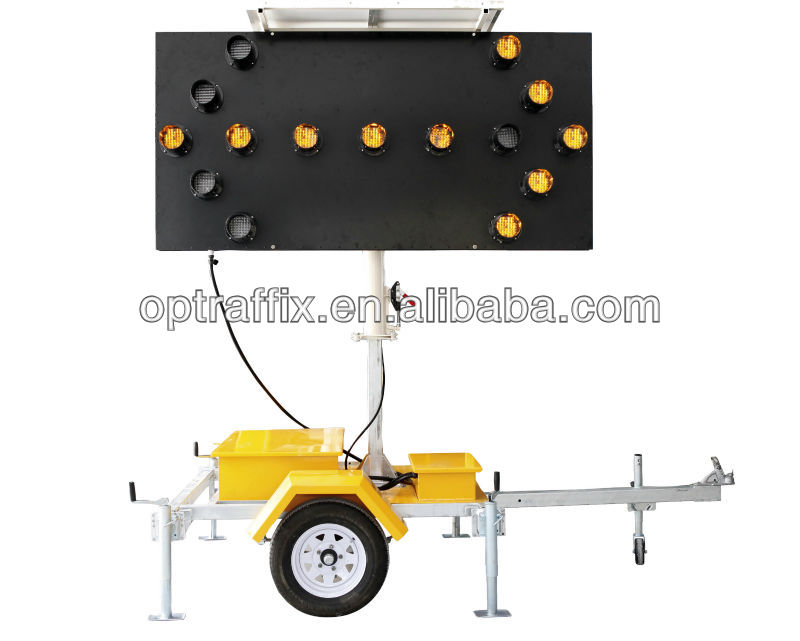 OPTRAFFIC Traffic Safety Equipment LED Lighting Solar Traffic Arrow Sign