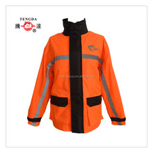 rainproof orange 190T polyester taffeta pvc rainwear