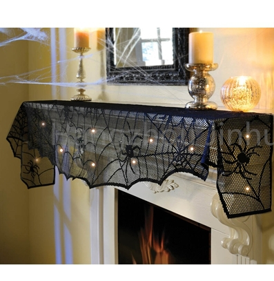 Halloween Christmas holiday Lighted lace mantle scarfs / Lighted lace mantle scarfs / LED lace mantle scarf