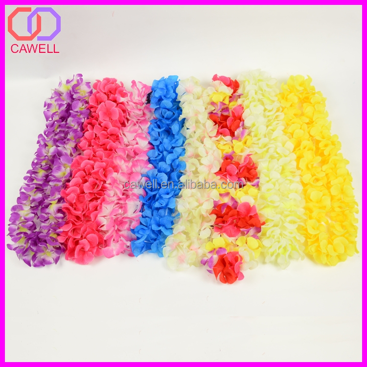 wholesle plastic artificial hawaiian decor,hawaiian flower lei
