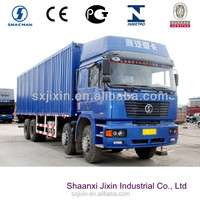 Buying shaanxi cargo truck 8x4 big van container truck