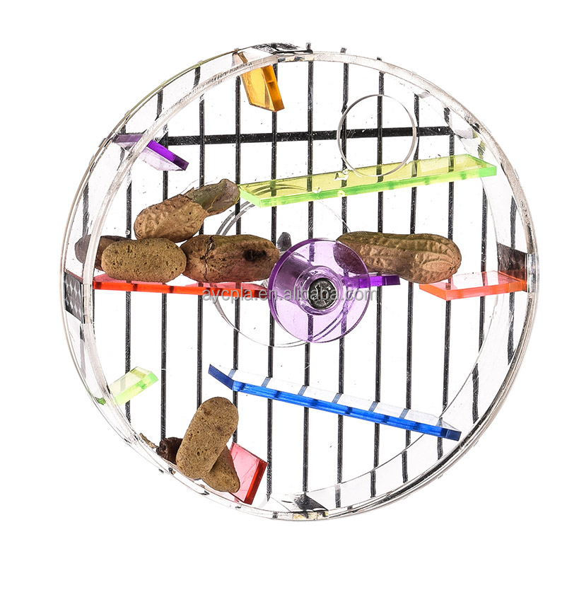 Acrylic Foraging Wheel-L Bird Toy