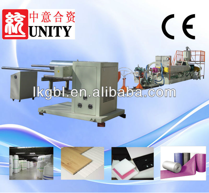 China mold manufacturers supply extrusion machine Plastic Blowing Machinery pe foam film extrusion line