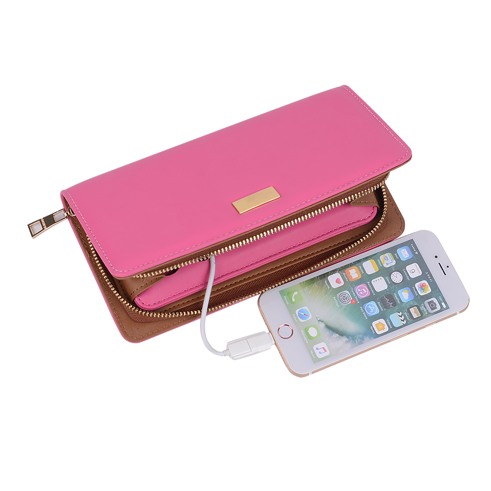 mens womens charging wallet with power bank