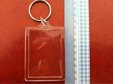 acrylic cheap blank keychain with logo and printing