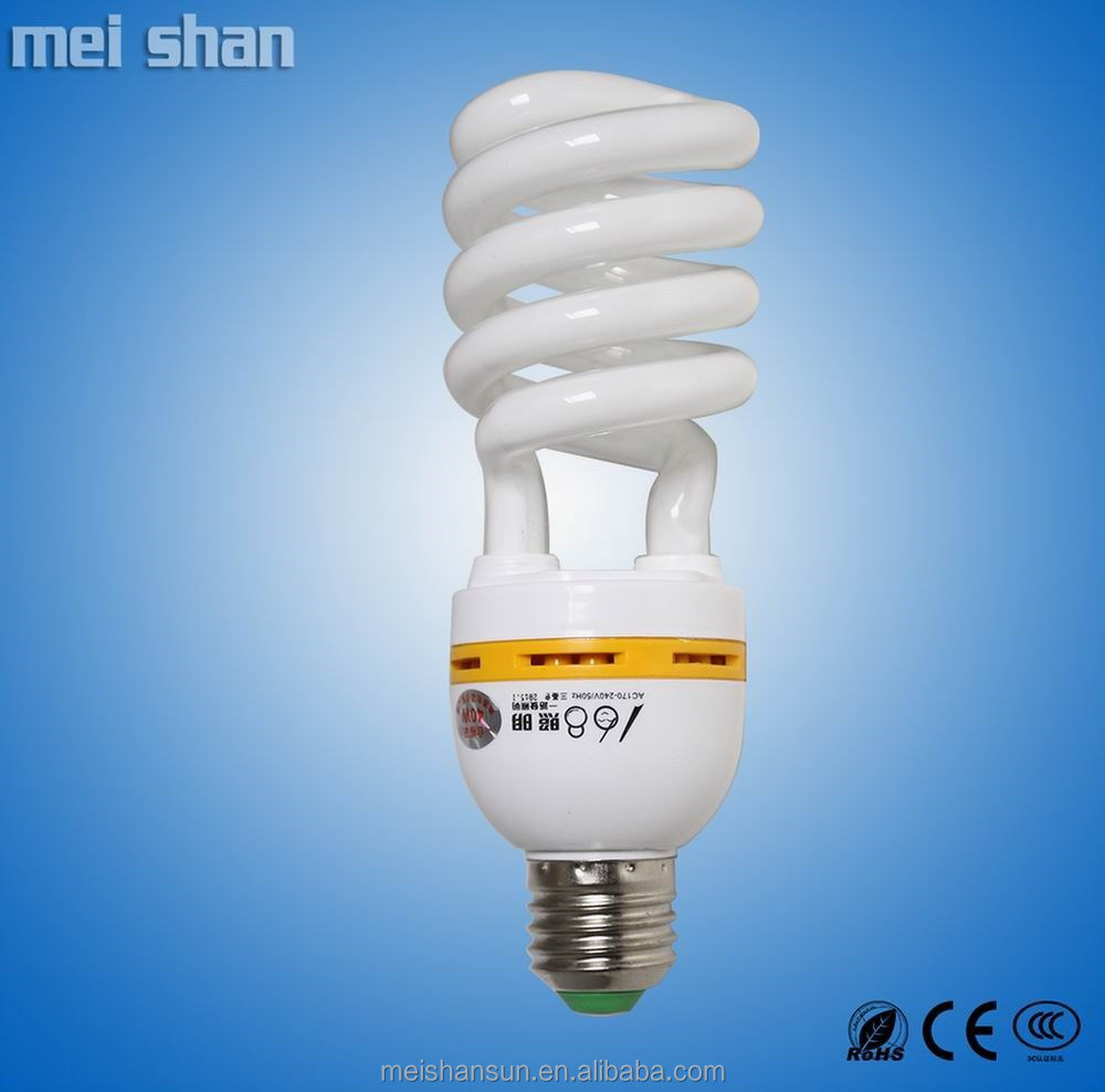 T2 9mm tube 24W CFL fluorescent half spiral energy saving bulbs warm white pure white