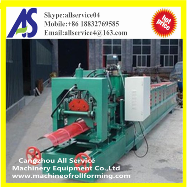 Widely Used Color Steel Metal Roof Ridge Cap Tile Cold Roll Forming Machine