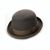 Design your own band round winter womens hat fedora wool felt trilby hats wholesale