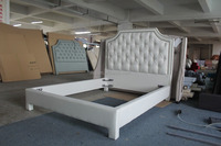 Rococo style luxury French king size lastest modern bedroom furniture set factory wholesale C123