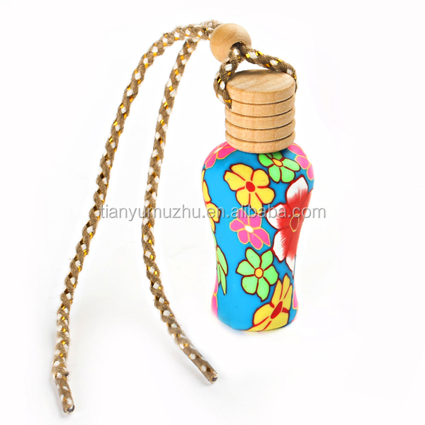 Factory supply high quality Polymer clay perfume bottle for car on sale
