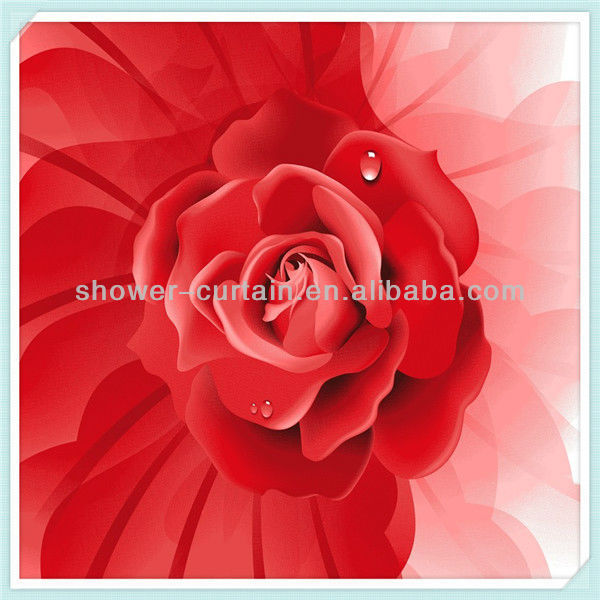 new design novelty shower curtains flame shower curtain