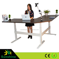 Control panel adjustable desk