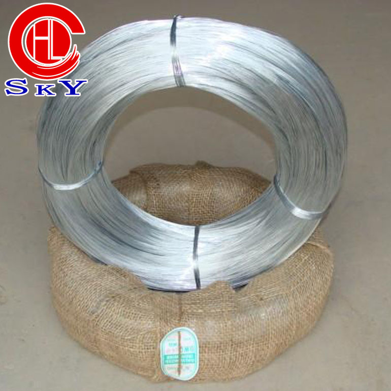 hongli 2017.4.7 eletric galvanized low carbon wire <strong>Q195</strong>, strength 385-500Mpa zinc coated 10g/mm2 wire factory prices