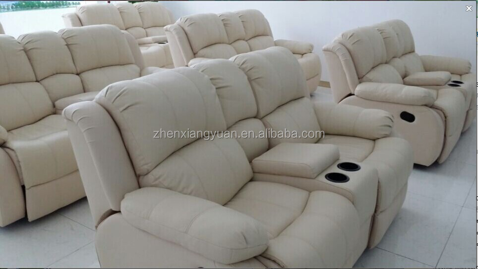 2016 Living Room Products Leather Sofa Double Recliner Sofa With Cup Holder  Buy Recliner Sofa