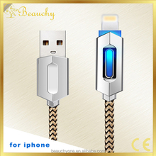 1m 2A Data Cable Smart LED Light Connector USB Charging Cable for iphone 5/ 6/6plus