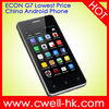 ECON G7 4 inch MTK6515 Dual SIM 3 Colors Lowest Price China Android Phone