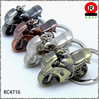 2014 promotional product cheap mini metal motorcycle keychain made in china
