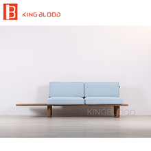 low price modern nordic home lobby wooden fabric sofa set design