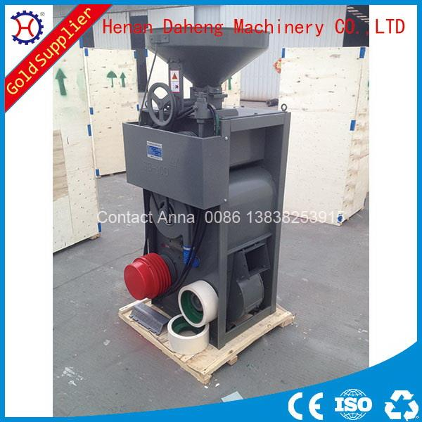 rice hulling and polishing machine for rice mill with diesel engine