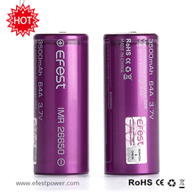 26650 4200mAh Rechargeable Lifepo4 Battery Efest 26650 3.7v Li-ion battery For Electric Bicycle