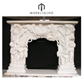 Personal custom make marble carved fireplace mantel