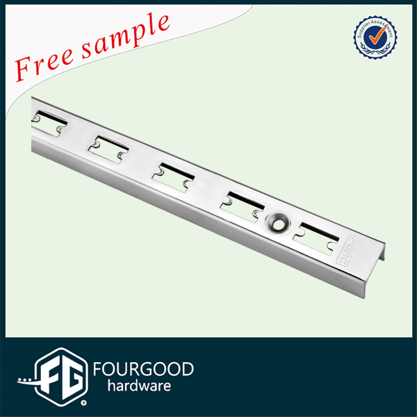 Shop Fitting Metal Chrome Plating C Channel Double/Single Slot Upright Post