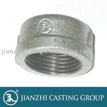 UL/FM ductile/Gavanized/Black Malleable iron threaded pipe end Cap