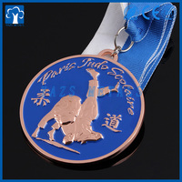Manufacture souvenir copper embossed judo metals