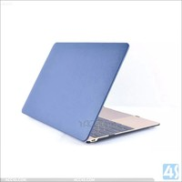 Latest Leather finish hard PC cover laptop protect case for Macbook air 12 inch