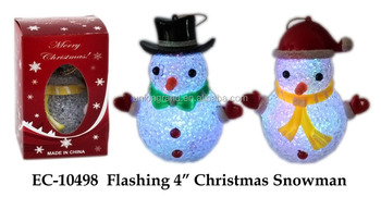 "Flashing 4"" christmas snowman"