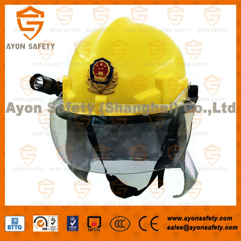 Economic fireman heat resistance fireproof rescue helmet for fire fighting protection