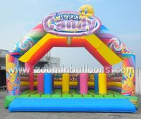 Kids products children game inflatable bungee trampoline for sale Z1007
