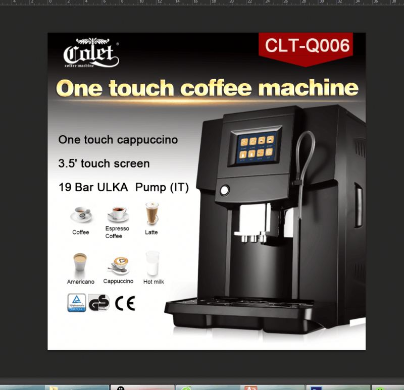 Top 500G coffee beans container espresso & cappuccino/Latte coffee maker