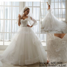 sweet heart neck ball gown wedding dresses for pregnant women