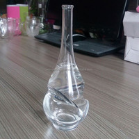 100ml wine shaped hand blown whiskey glass bottle,liquor samples glass bottle,fancy liquor glass bottle