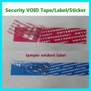 tamper evident adhesive warranty seal label