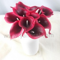 Red color artificial wedding flower cheap wholesale price Chinese artificial flower factory