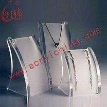 Customized Clear Acrylic Jewelry Display T Stand for Stud, Dangle, Hoop Earrings