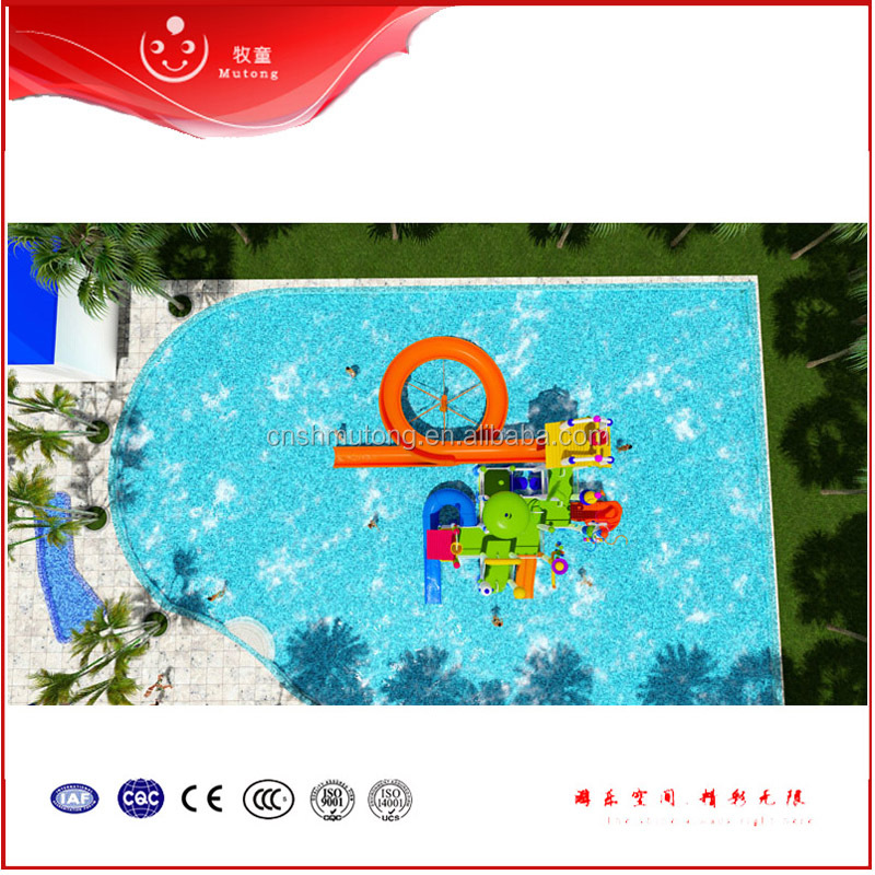 2016 Best Quality Kids Water Slide For Water Park