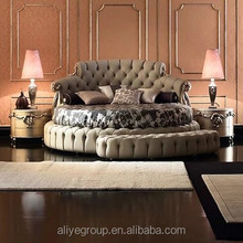 WH02-italian bedroom sets luxury round bed