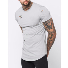 men fashion t shirt organic cotton t shirt urban fashion man blank distressed t shirts