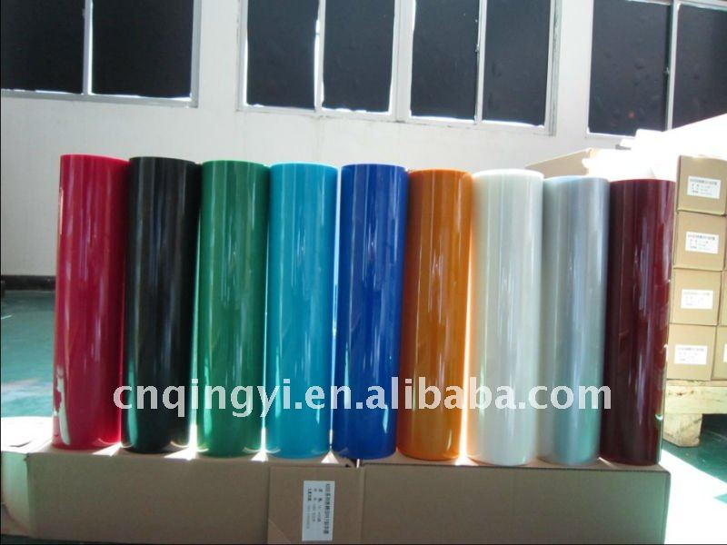 QingYi PET muti-color thermo cutting heat transfer vinyl for textile