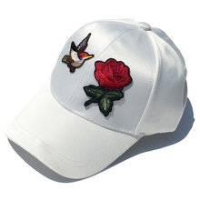 Custom 6 panel 3d embroidery rose logo baseball caps satin dad hat