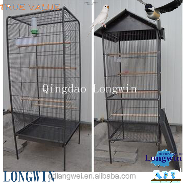 large size metal foldable meterial parrot bird cage