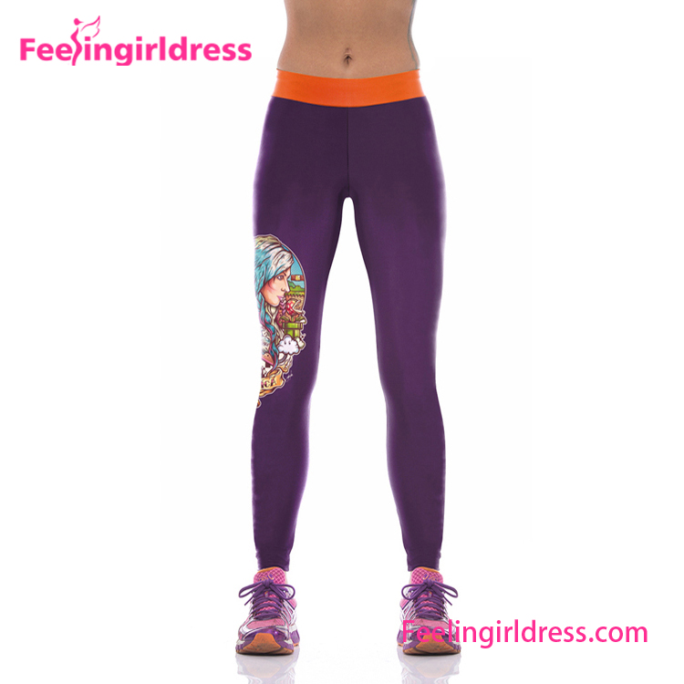 Yoga Clothing Organic Women Flex Yoga Sports Pants Leggings Fitness Wholesale